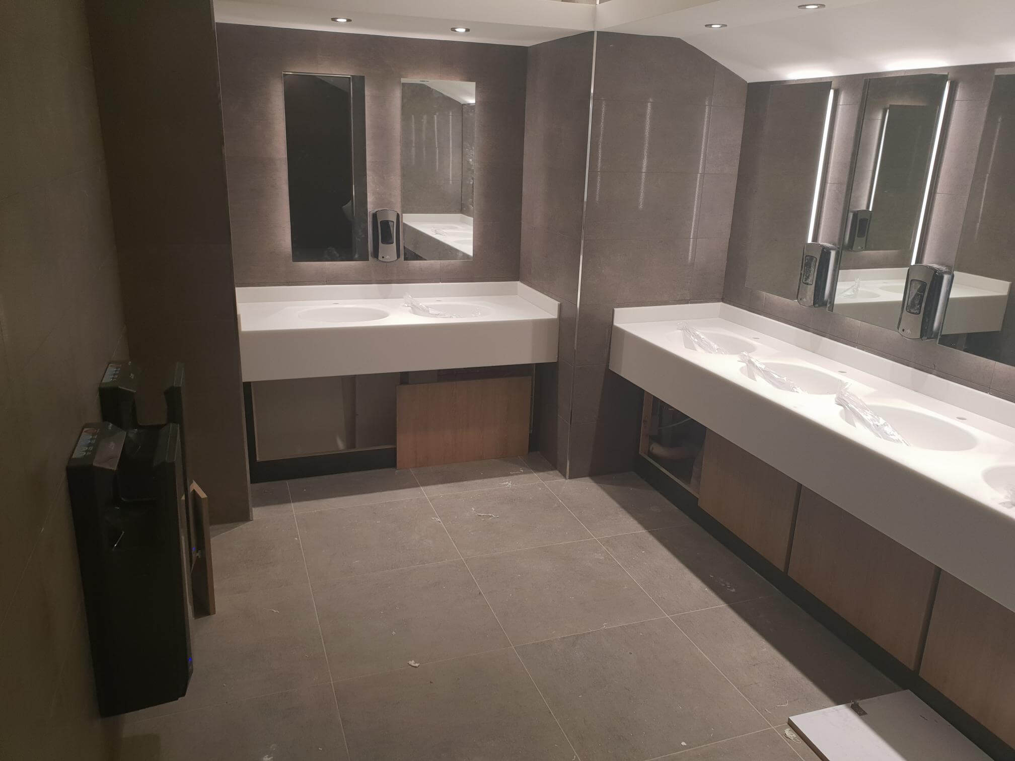 Commercial Cineworld Newcastle Vanity Basins