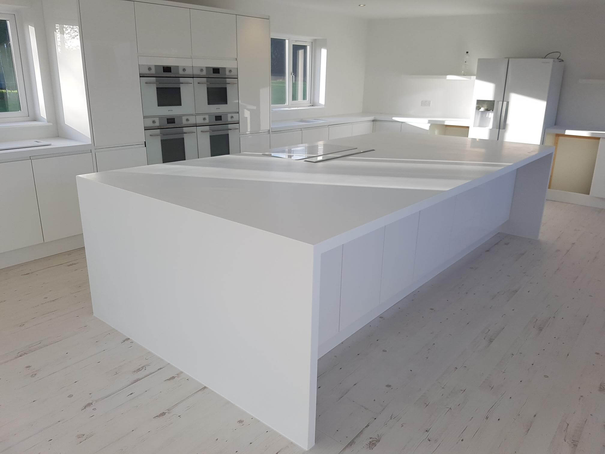 Staron Quasar White Kitchen Fit Out